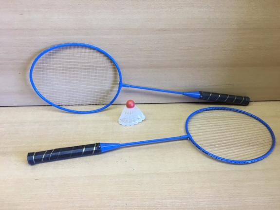 Foto 1:Badmintonsets  2x racket met shuttle