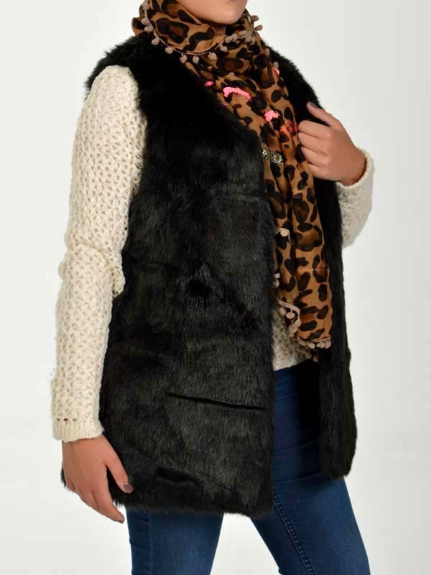 Picture 3:Diverse fake fur gilets dames