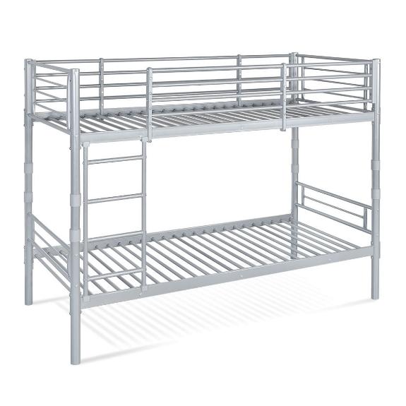 Picture 1:Stapelbed  deelbaar  90x200 zilver incl bedbodems