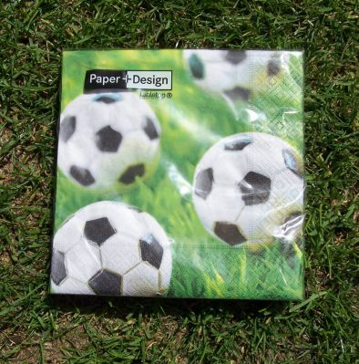 Picture 1:Servetten papier voetbal