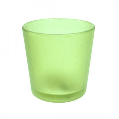 Picture 1:638439 waxinelichthouder geel/groen 6 cm ptmd