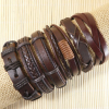 Groothandel - 6 Stijlvolle Lederen heren armbanden